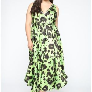 Wild About This Leopard Print Maxi  - Neon Green